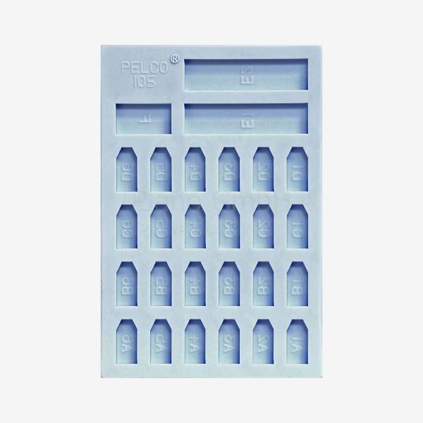 Pelco Flacheinbettungsform mit 24 Vertiefungen