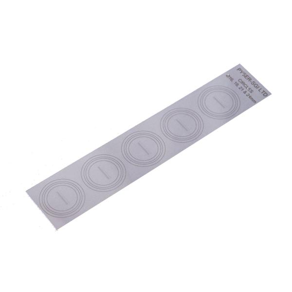Polyester-Deckglasstreifen mit 10 Strichplattenstrukturen