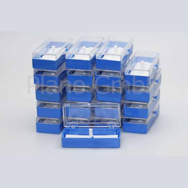 Aufbewahrungsschachtel für 4 Stiftprobenteller (PLANO-Multipack)