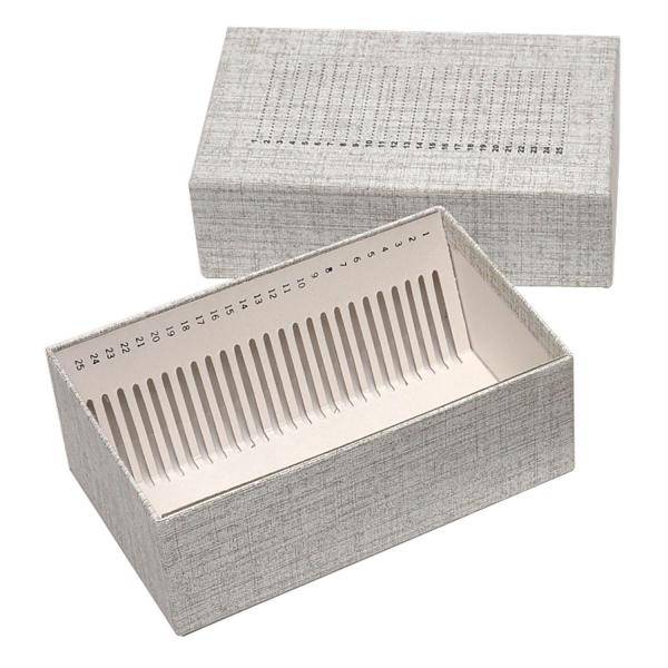Aufbewahrungsbox aus Karton für 25 große Objektträger