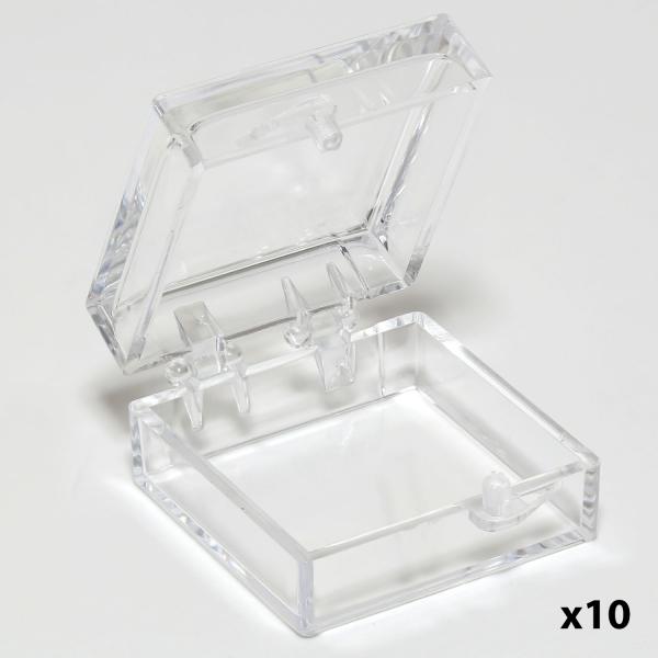 Styren Schachtel mit Gel (X4), 25 mm x 25 mm x 16 mm (PLANO-Multipack)