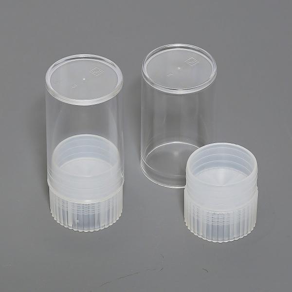 Polystyrol-Röhrchen mit weißem Stopfen