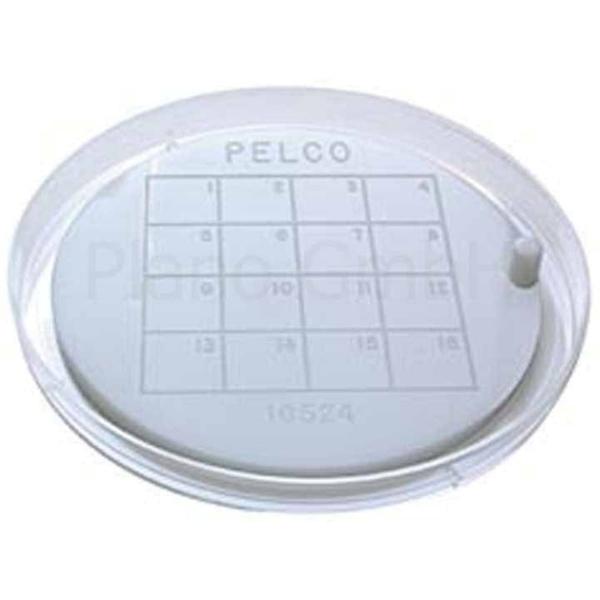 Haftplatte für Netzchen mit Greif-Pin und Unterteilung