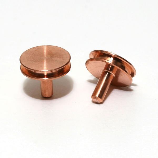 Stiftprobenteller aus Kupfer, 10 Stück