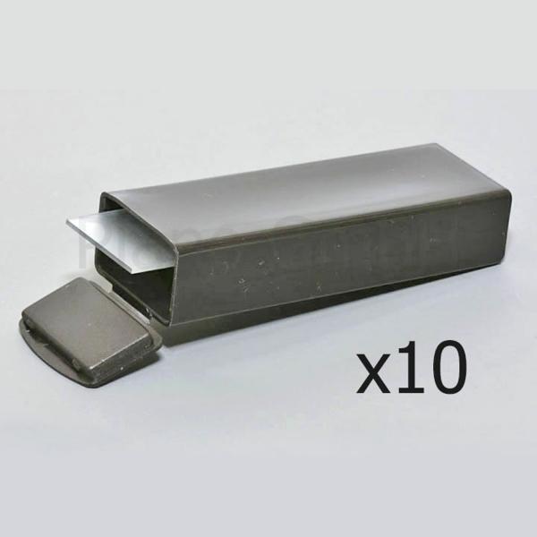 Versandschachtel für 5 Objektträger, schwarz (PLANO-Multipack)