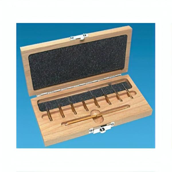 Mikroskopiker-Werkzeugset im Holzkasten