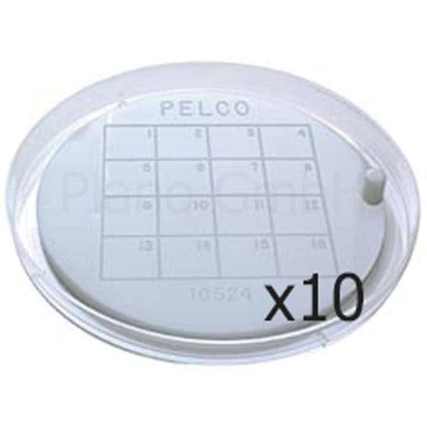 Haftplatte für Netzchen mit Greif-Pin und Unterteilung (PLANO-Multipack)