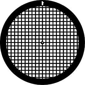 Netzchen (quadratisches Muster) mit Mittelmarkierung