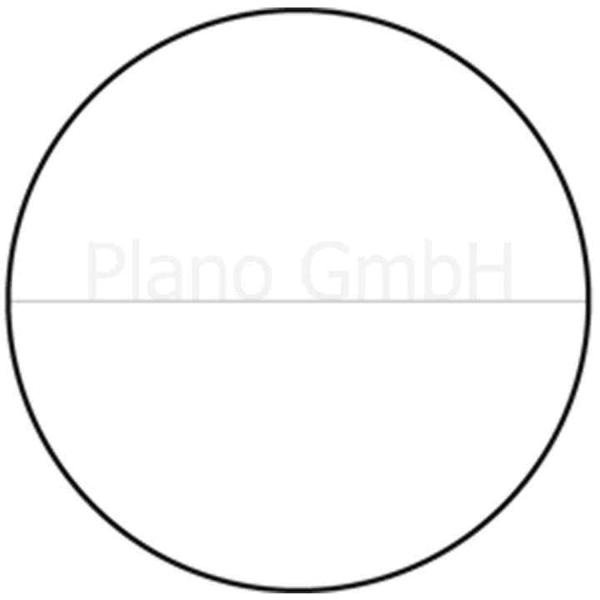 Strichplatte mit horizontaler Linie ohne Unterteilung