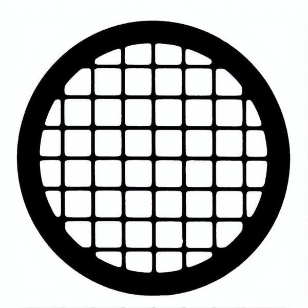 Netzchen (quadratisches Muster) ohne Mittelmarkierung aus Kupfer, 75 mesh (PLANO-Multipack)