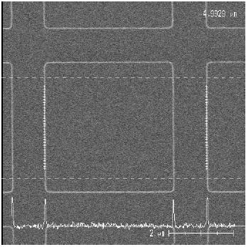 PLANOTEC Silizium-Testobjekt mit 5 µm - pitch Gitter