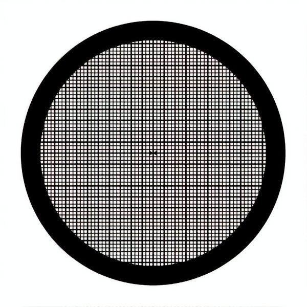 Netzchen mit quadratischem Muster (mit Mittelmarkierung)