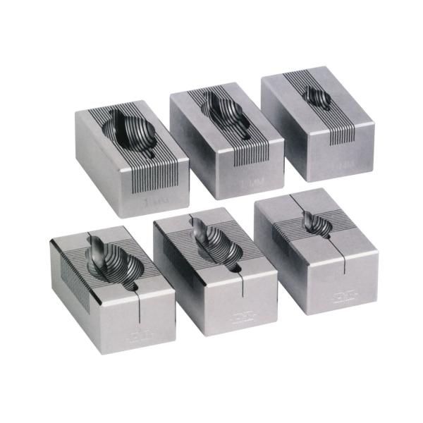 Hirn-Handschnittmatrizen aus Edelstahl, 1,0 mm