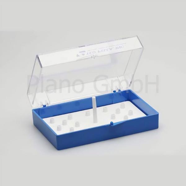 Aufbewahrungsschachtel für bis zu 18 Stiftprobenteller (PLANO-Multipack)