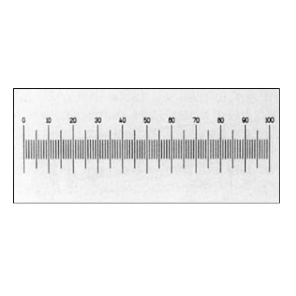 Millimeter-Miniskala - Kalibrierung für niedrige Vergrößerung (montiert & unmontiert)