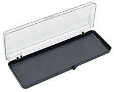 Styren Schachtel mit Scharnier (rechteckig, 14 x 4,1 x 1,27 cm)