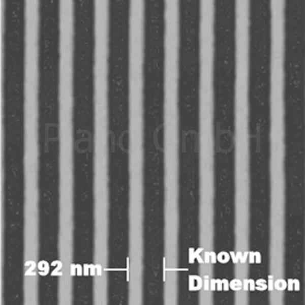 REM-Titan-Testobjekt, 292 nm (nominell) für hohe Vergrößerungen, Hochauflösung