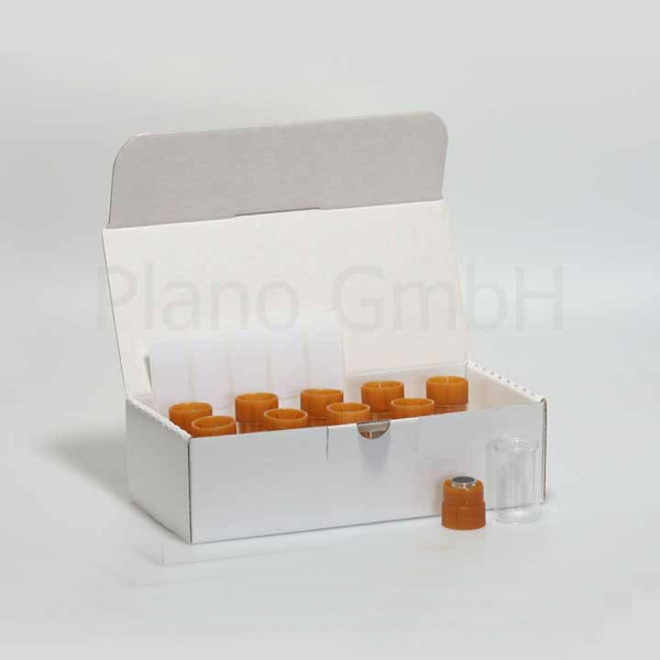 PLANO REM-Mobil-Box bestückt mit Leit-Tabs auf Stiftprobenteller