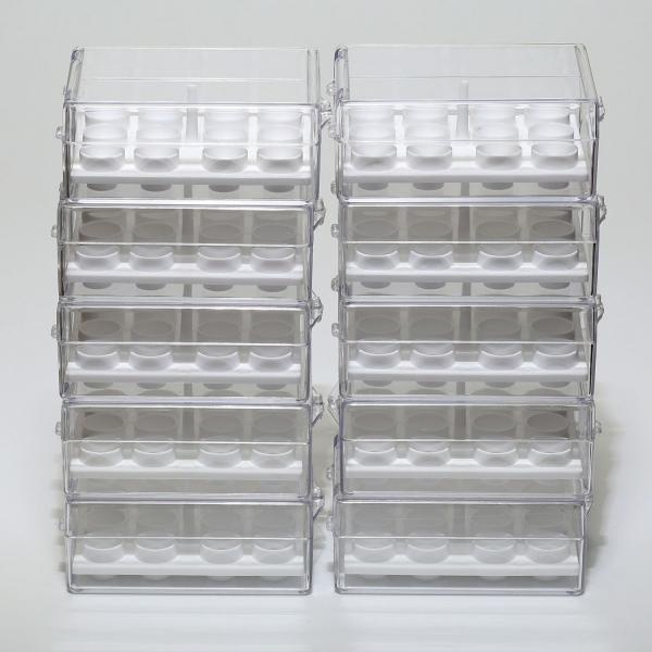 Aufbewahrungsschachtel für 12 Stiftprobenteller oder 15 Zylinder (PLANO-Multipack)