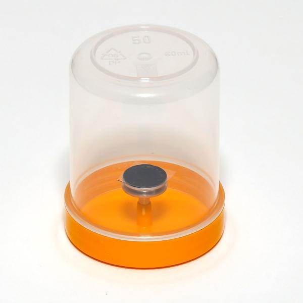 Einzelverpackung (Typ G3626), bestückt mit Stiftprobenteller und Leit-Tab G3347