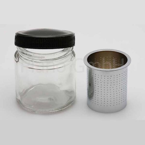 Diamant Stein Waschbehälter aus Glas, mit Sieb