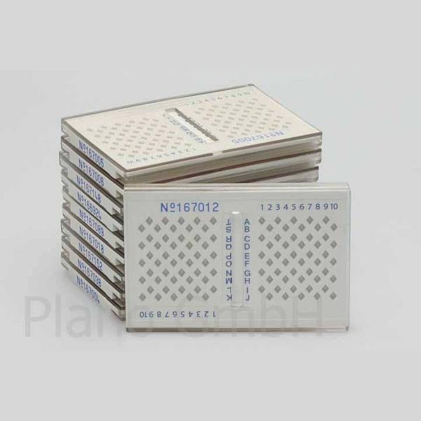 Aufbewahrungsbox für TEM 100 Grids / Netzchen mit Ident-Nr. (PLANO-Multipack)