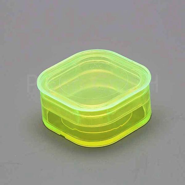 Aufbewahrungsschachtel (gelb) mit Membran und Stülpdeckel, eckig (PLANO-Multipack)