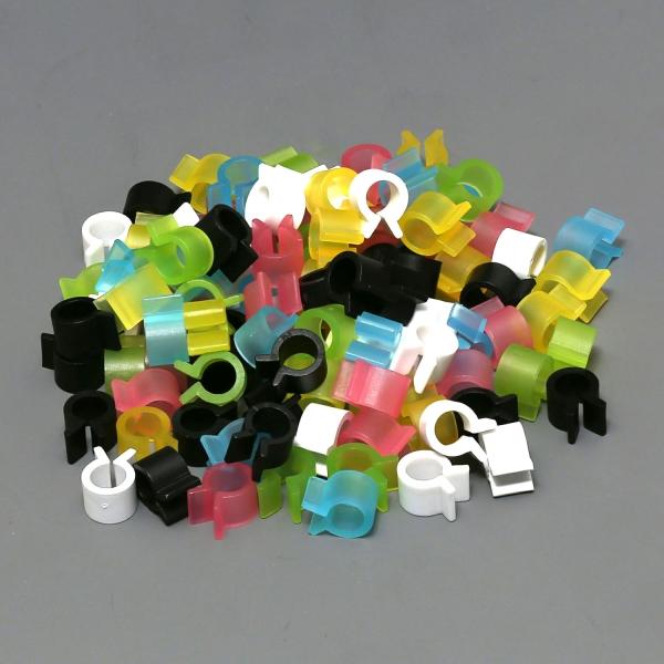 Befestigungsclips aus Kunststoff für Kalteinbettung