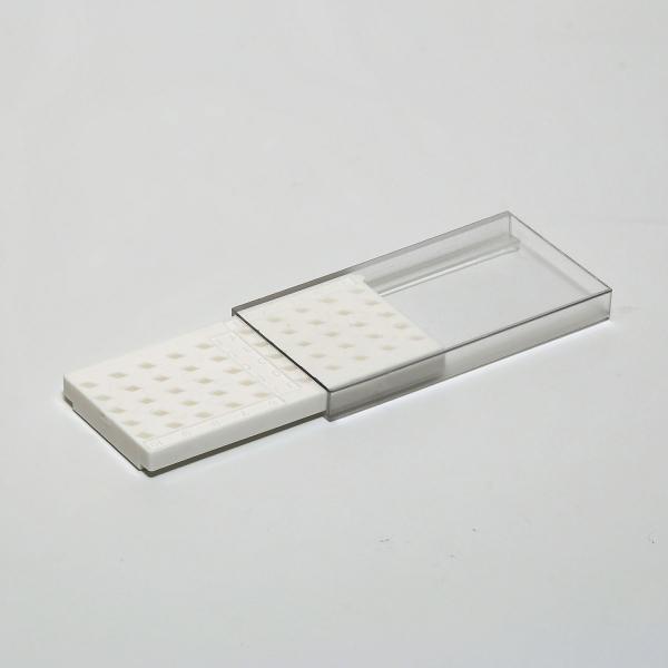 Aufbewahrungsbox für 50 TEM Griff Netzchen mit Schiebedeckel