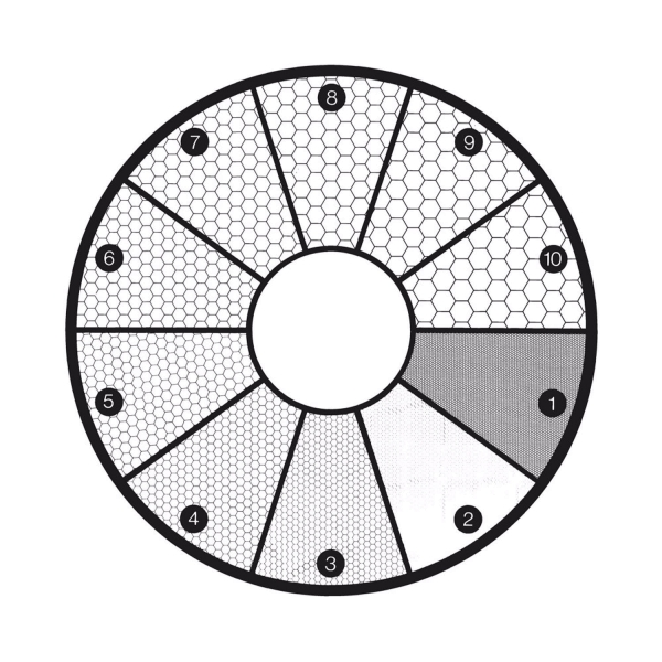 Strichplatte (ASTM E19-46)