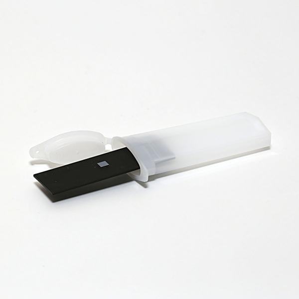 PLANOTEC-Silizium-Testobjekt (montiert) mit 10 µm - pitch Gitter