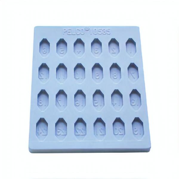 Pelco Flacheinbettungsform mit 24 Vertiefungen und doppelter Endung