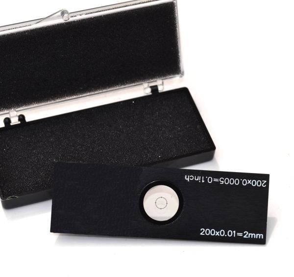 Gekreuzte Objektträger-Mikrometer für Durchlicht (Länge: 2 mm, Unterteilung: 0,1 mm)