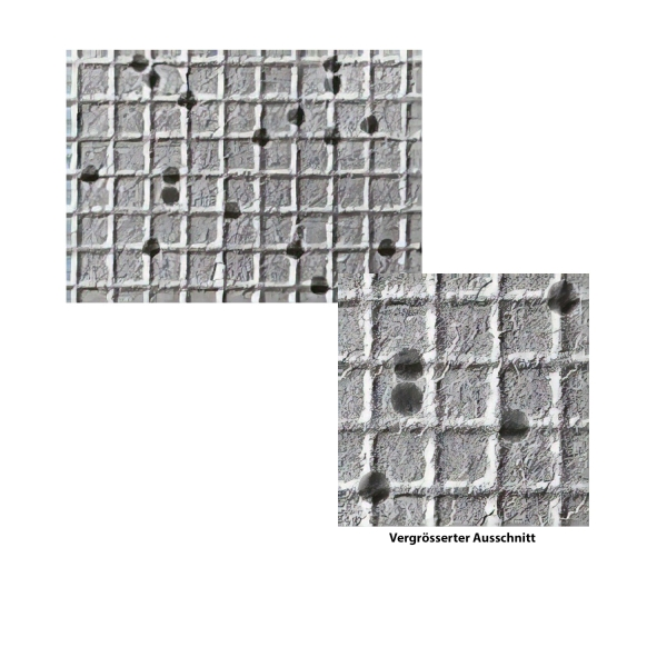 Vergrößerungs-Doppeltestobjekt auf Kreuzgitter-Replika