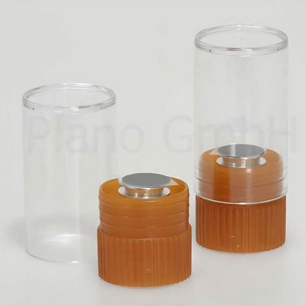 """Einzelverpackung """"Typ G3626"""" - bestückt mit Stiftprobenteller und Leit-Tab"""