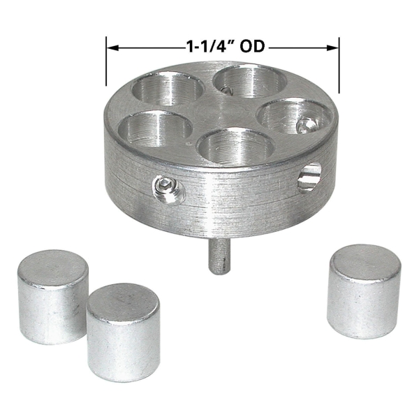 Halter für 5 Zylinder-Probenhalter mit je 9,5 mm ø