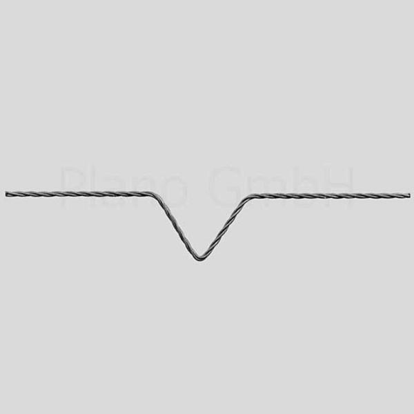 Wolfram-Heizwendel mit V-Vertiefung