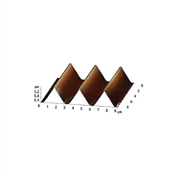 1-D Dreiecks-Test-Raster TGT-1500 (auf AFM-Scheibe)