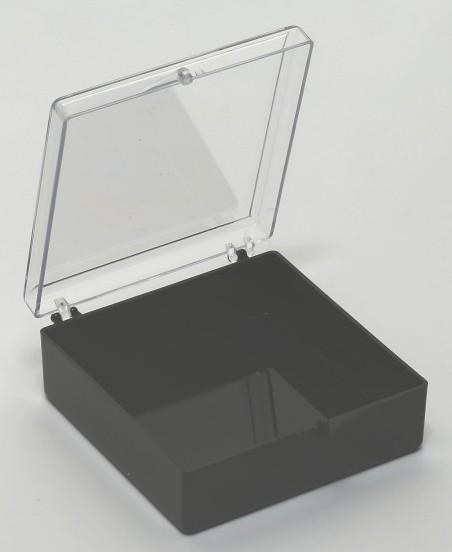 Polystyrol-Schachtel (74 mm x 74 mm, Unterteil: 19,5 mm)