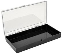 Styren Schachtel mit Scharnier (rechteckig, 17,8 x 8,9 x 2,5 cm)