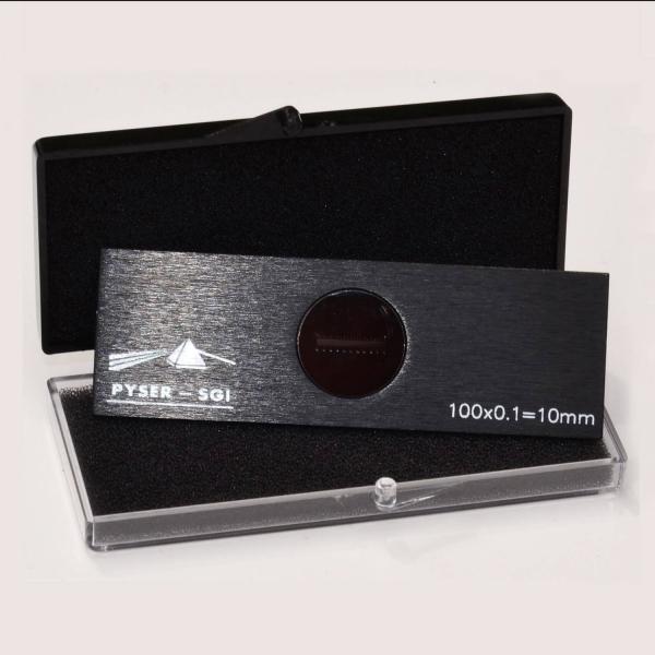 Objektträger-Mikrometer für Auflicht (Länge: 10 mm, Unterteilung: 0,1 mm)
