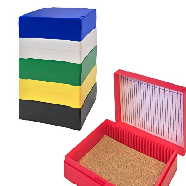 Aufbewahrungsbox (Handy Mini Slide Box) für Objektträger aus Polystyrene