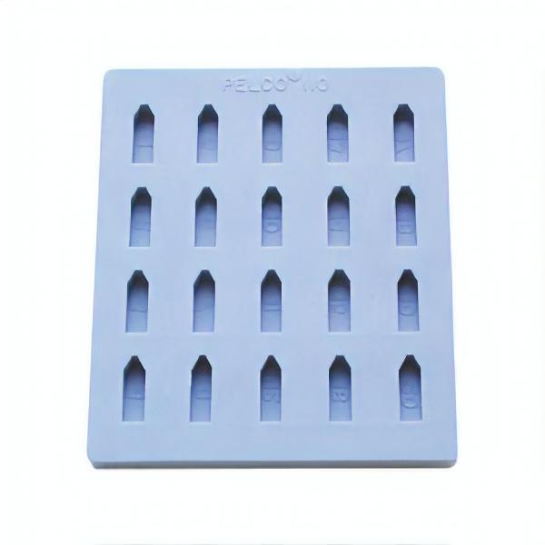 Flache Einbettform mit 20 Vertiefungen