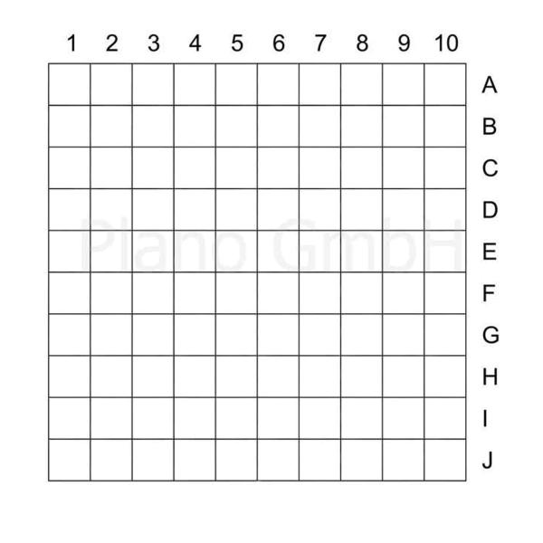 Strichplatte (mit Quadraten - außen indiziert)