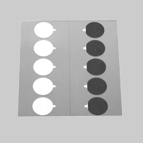 Leit-Tabs Kohlenstoffklebepads mit Aluminium-Träger