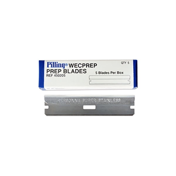Lange WECPREP-Klingen aus Edelstahl mit gefasstem Rücken