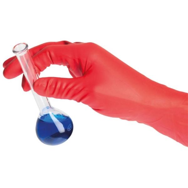 Handschuh SHIELDskin Chem Neo Nitrile 300, puderfrei, rot, Größe: M