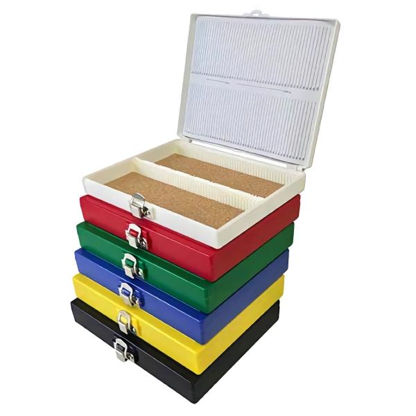 Aufbewahrungsbox (Handy Slide Box) für Objektträger aus Polystyrene